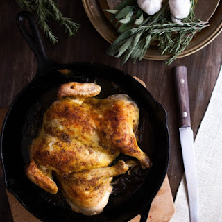 Fragrant Spatchcocked Roasted Chicken