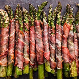 Crispy Prosciutto-Wrapped Asparagus.