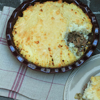 Celery Gratin with Pears and Duck Confit.