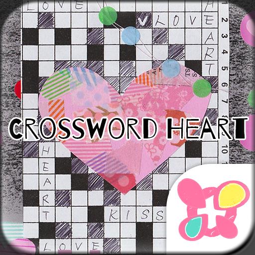 Collage Theme Crossword Heart Icon