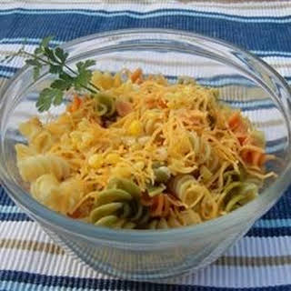 Delish Lime and Corn Pasta Salad.