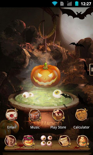 Next Launcher Theme Halloween