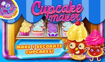 Screenshot of Cupcake Maker Crazy Chef