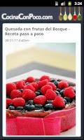 Screenshot of Cocina Con Poco