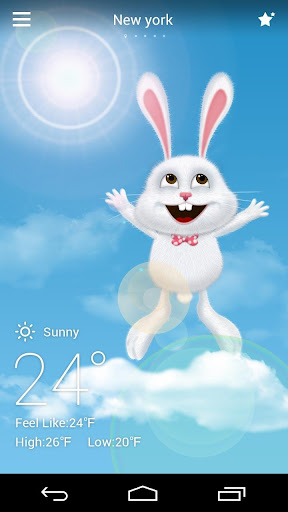 Mr Rabbit GO Weather Theme Screenshot