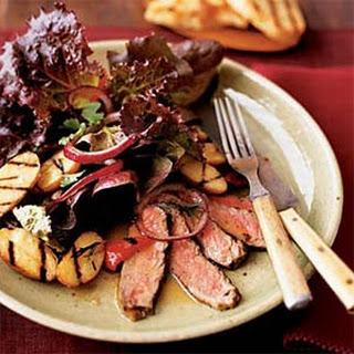 Grilled Steak and Potato Salad.