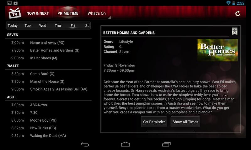 Yahoo7 TV Guide   Android Apps on Google Play eg3GKHcO