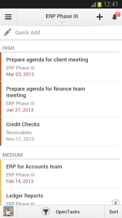 Zoho Projects - screenshot