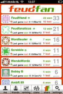 Feudfan - Wordfeud tracker - screenshot thumbnail