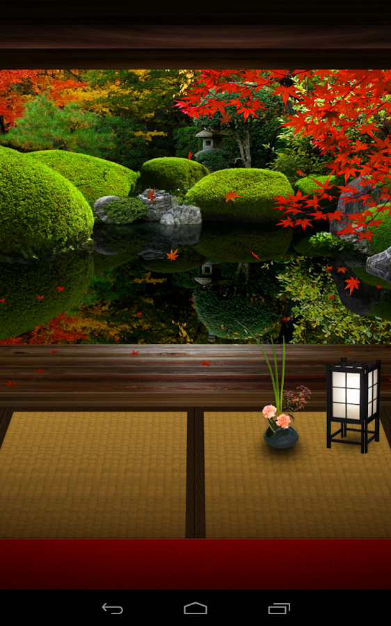 Zen garden fall lw android apps on google play - Wallpaper volwassen kamer zen ...