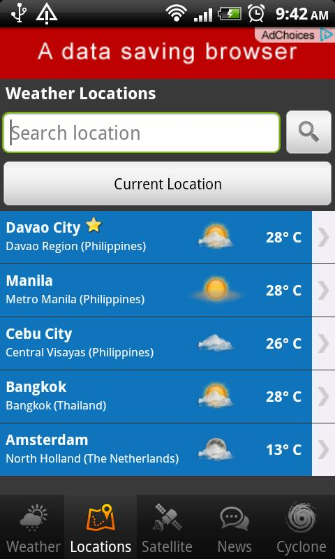 PH Weather- screenshot