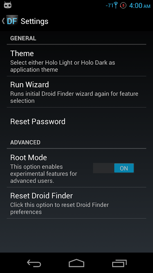Droid Finder- screenshot