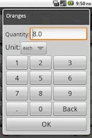 Screenshot of ToMarket Grocery Shopping Pro