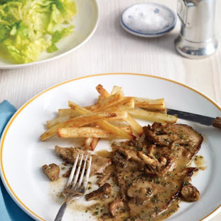 Veal Paillards with Mushroom, Mustard, and Sherry Sauce
