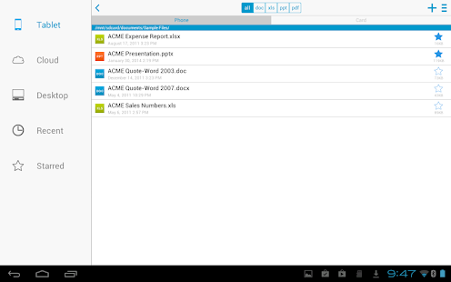 Docs To Go™ Free Office Suite Screenshot 9