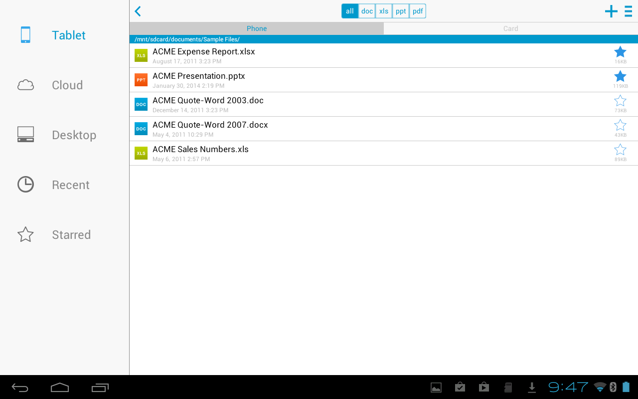 Docs To Go™ Free Office Suite screenshot #9