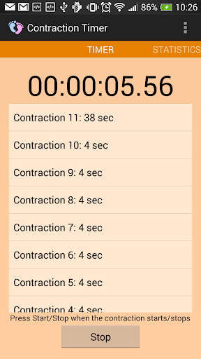 Contraction Timer