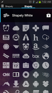 Shapely White Icons - screenshot thumbnail