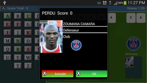 ligue 1 : Pendu Foot RRO