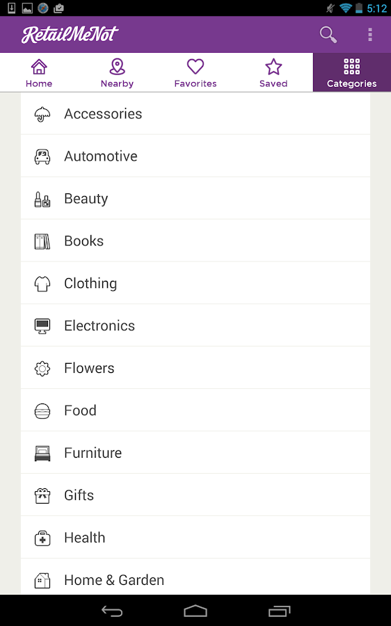 RetailMeNot Coupons - screenshot