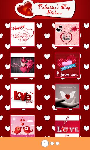 Valentine stickers Love theme