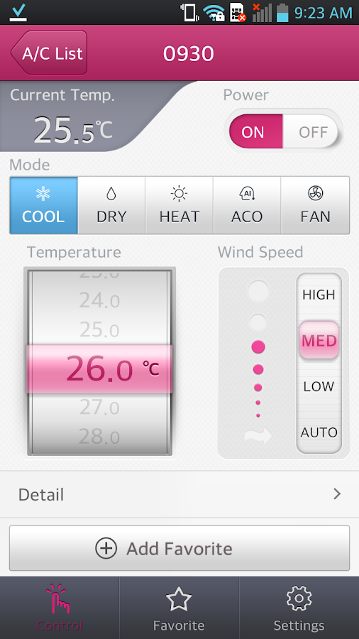 LG Smart AC- screenshot