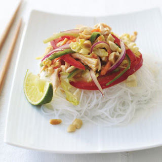 Thai Chicken Salad with Rice Noodles.
