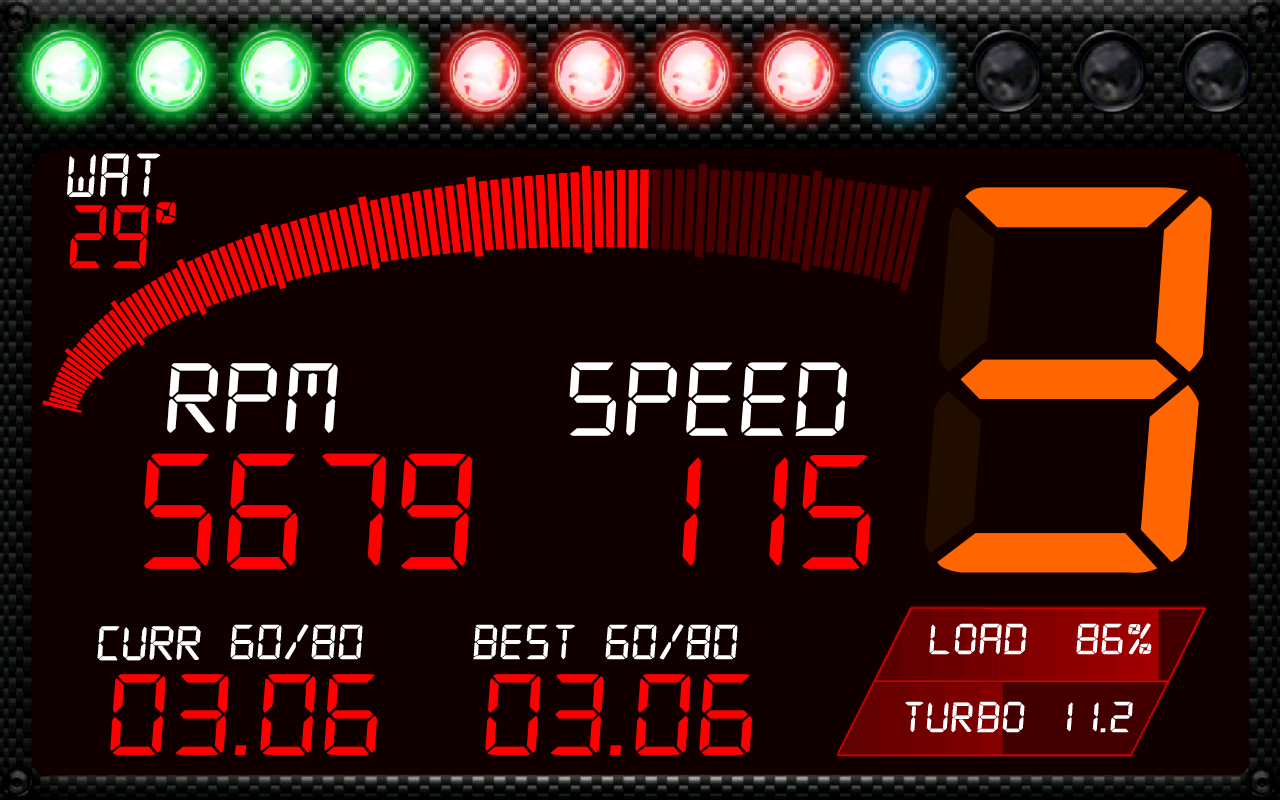 RacingMeter for Torque Pro - screenshot