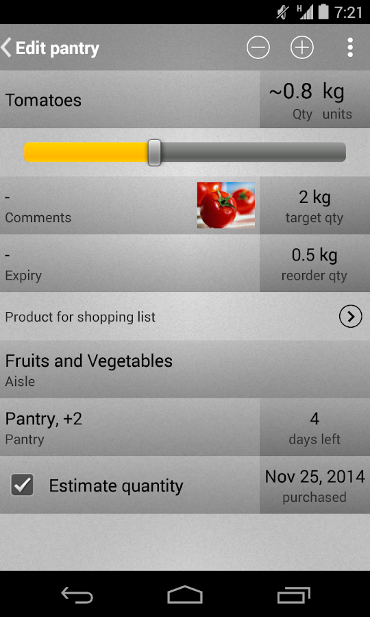 Mighty Shopping List Free- screenshot