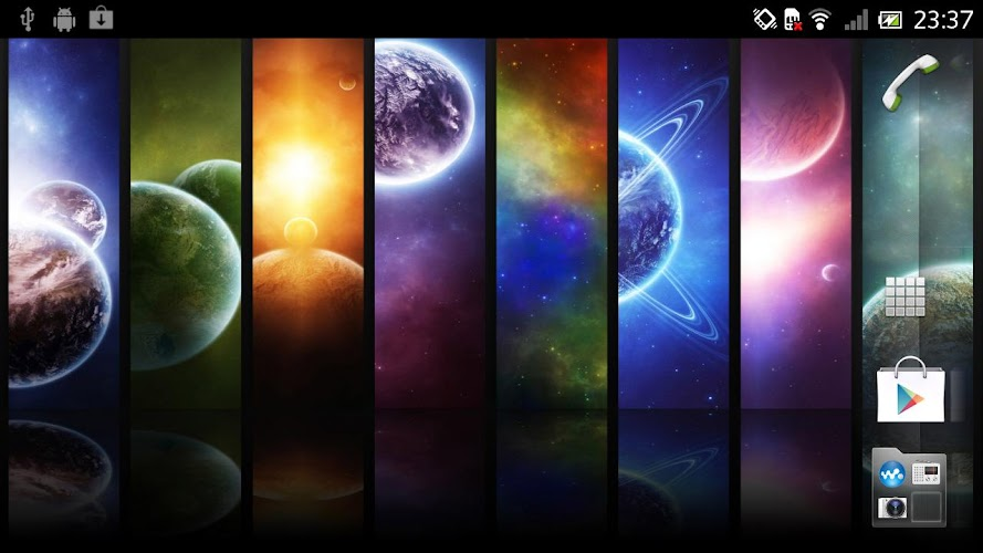 ... Galaxy Infinity Live Wallpaper Android App Screenshot