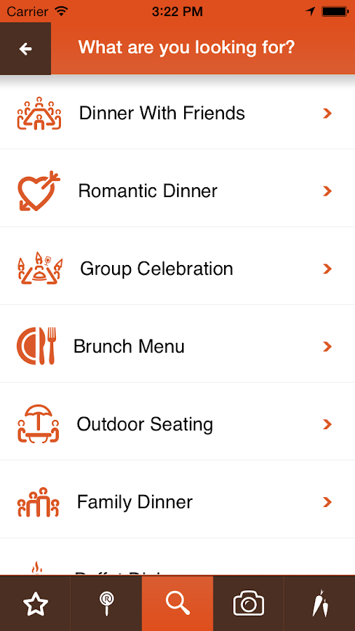 RoundMenu Restaurants - screenshot