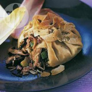 Ham and Wild Rice Pastries Recipe