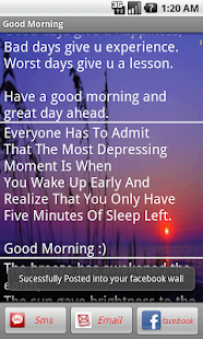 Good Morning/Night Messages - screenshot thumbnail