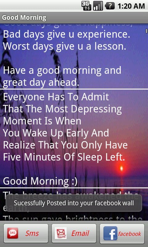 Good Morning/Night Messages - screenshot