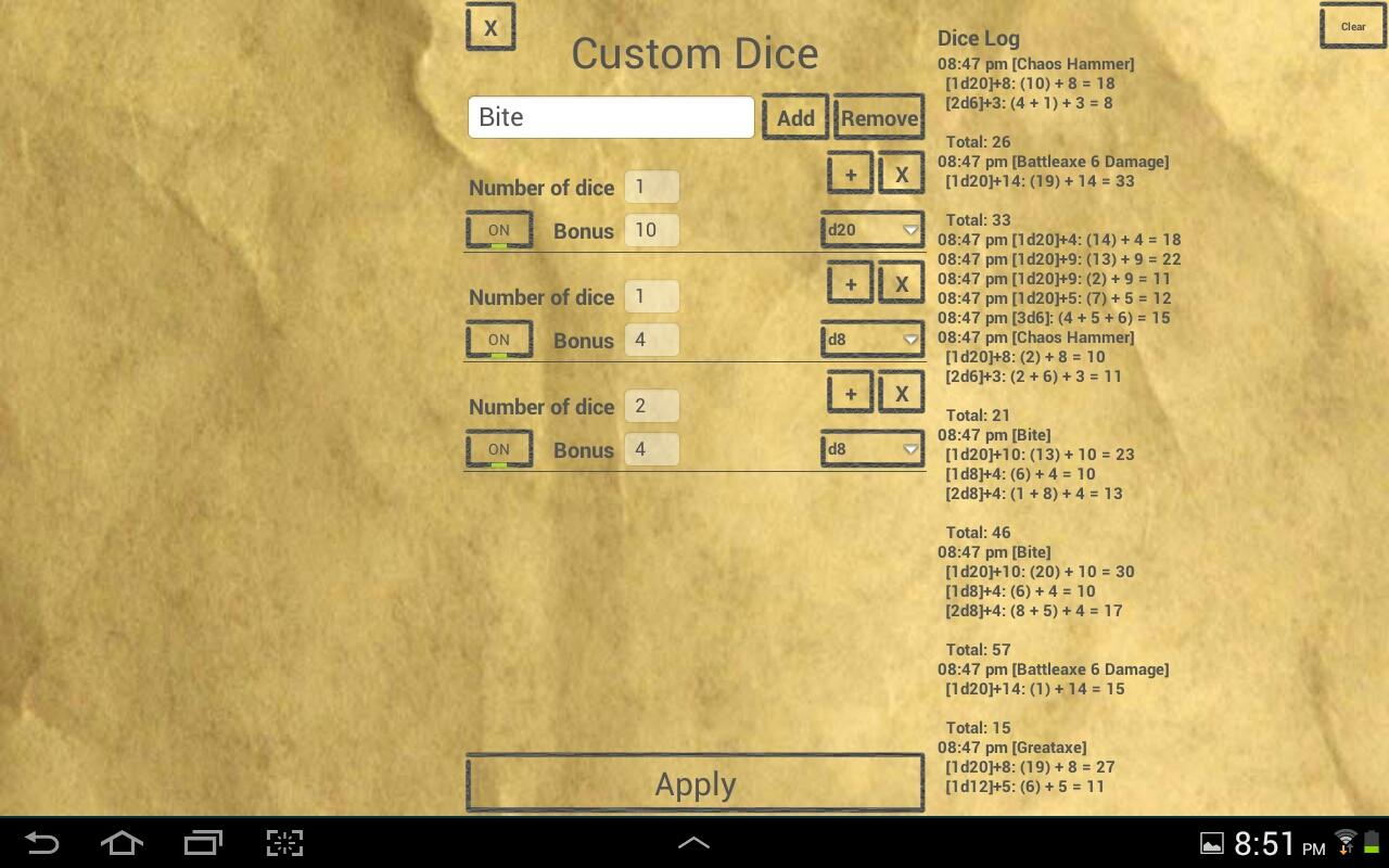 D&D Dice by b.freq - screenshot