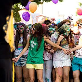 Color Run Braga 2014 - Portugal by Júlio Alves - People Group/Corporate ( color run, portugal )