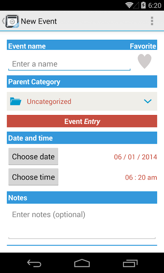 TimeJot - screenshot