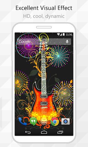 Hot Guitar Live Wallpaper
