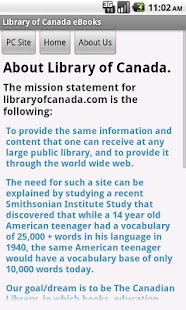 Library of Canada eBooks - screenshot thumbnail