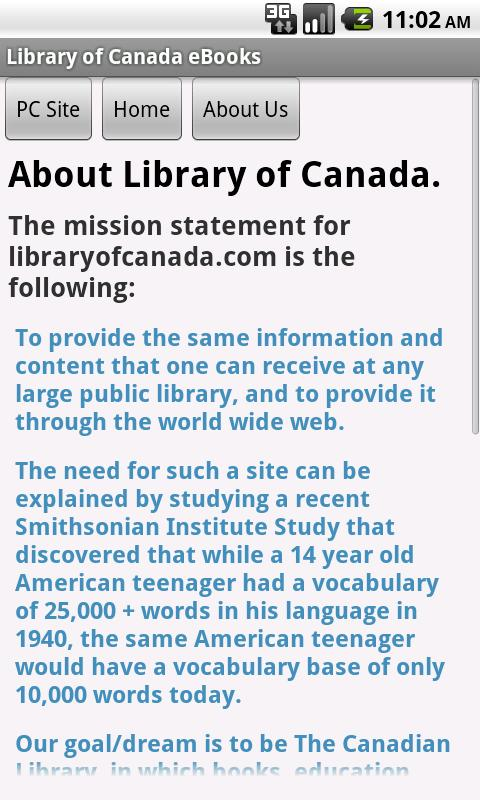 Library of Canada eBooks - screenshot