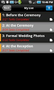 WEDDING PICTURES PLANNER screenshot 0