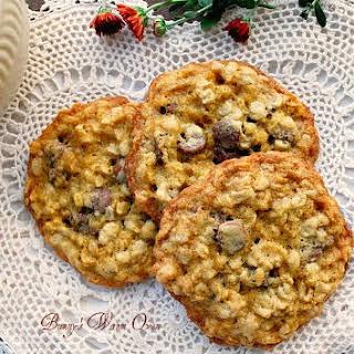 Oatmeal Orange Milk Chocolate Chip Cookies.