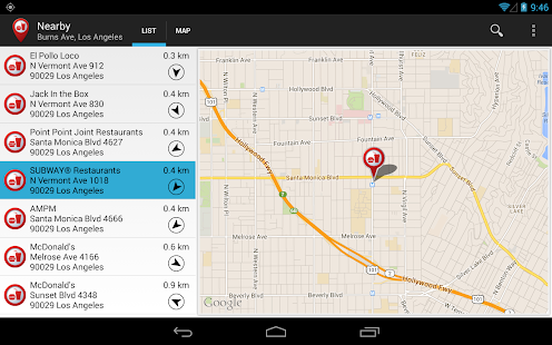 Fast Food Locator / Finder Screenshot 9
