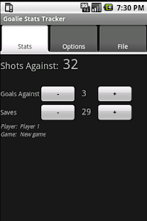 Goalie Stats Tracker - screenshot thumbnail