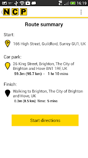 NCP Car Park Finder - screenshot thumbnail
