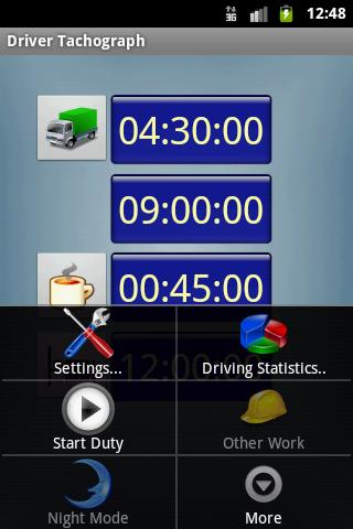 Driver Tachograph - screenshot