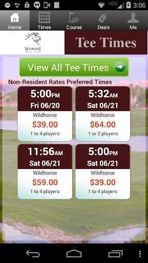 Wildhorse Golf Tee Times
