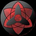 3D Sharingan eye LWP icon