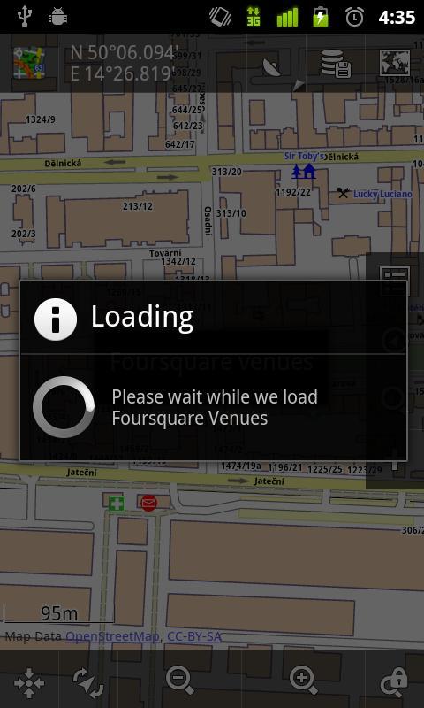 Locus - addon Foursquare - screenshot