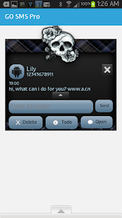 GO SMS - Rose Skulls 5 - screenshot thumbnail